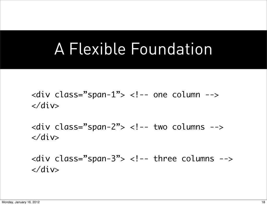 "A Flexible Foundation <div class=""span-1""> <!--..."