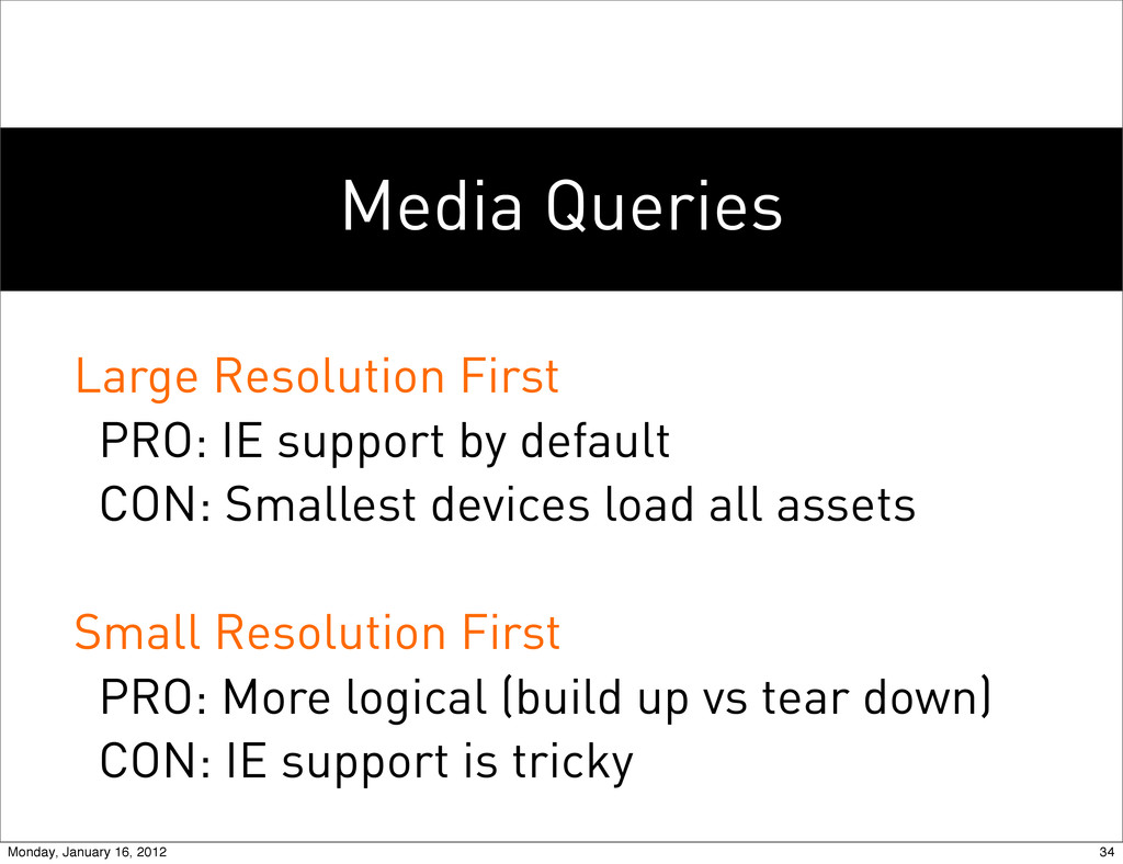 Media Queries Large Resolution First PRO: IE su...