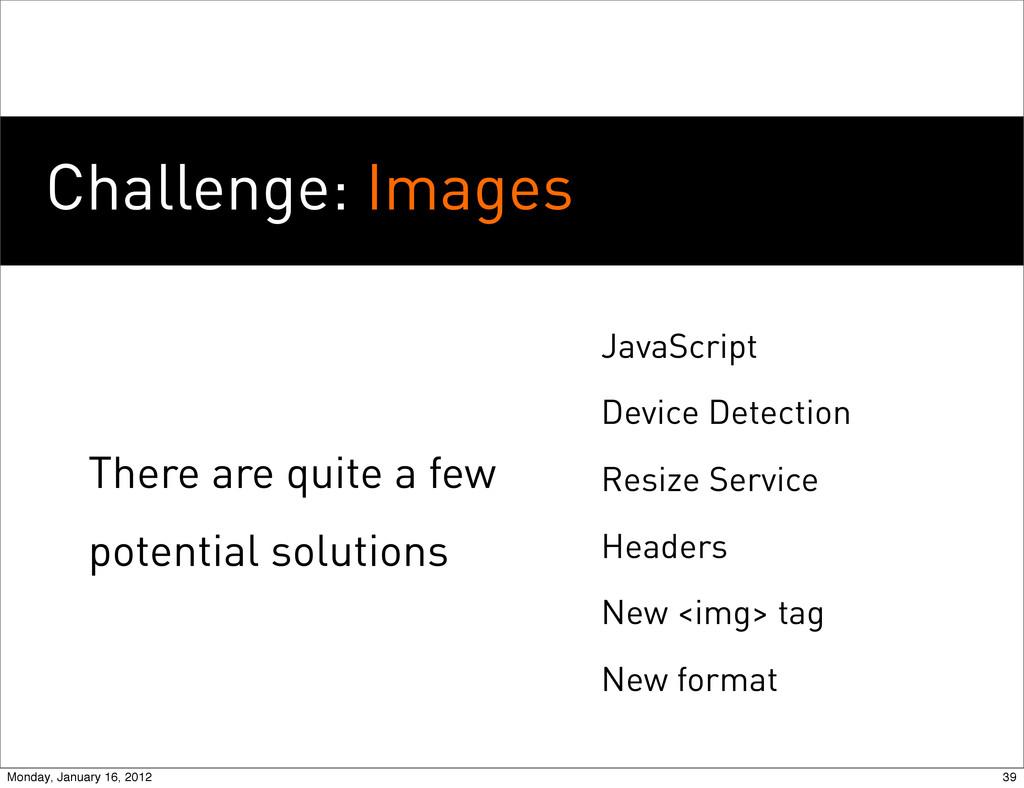 Challenge: Images JavaScript Device Detection R...