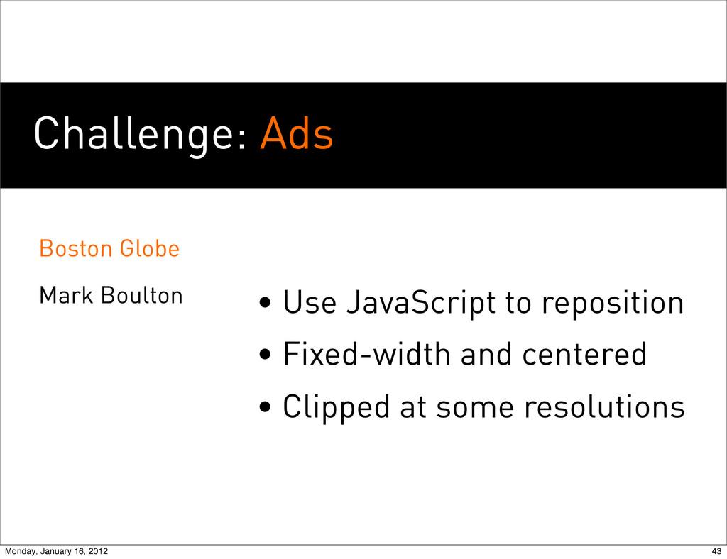 Challenge: Ads Boston Globe Mark Boulton • Use ...