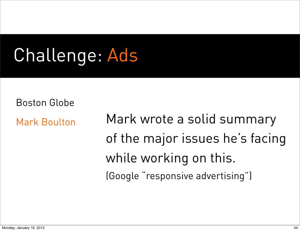 Challenge: Ads Boston Globe Mark Boulton Mark w...