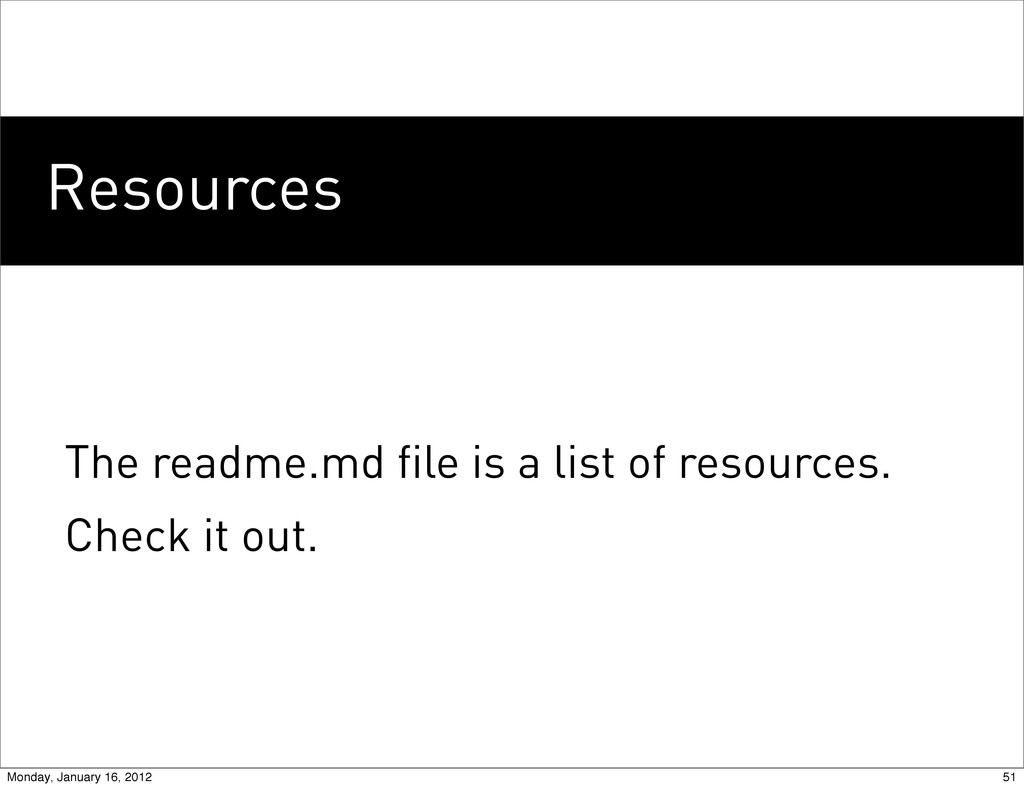 Resources The readme.md file is a list of resou...