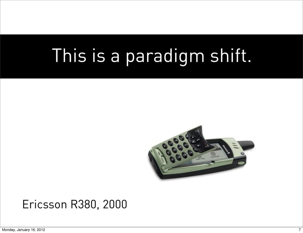 This is a paradigm shift. Ericsson R380, 2000 7...