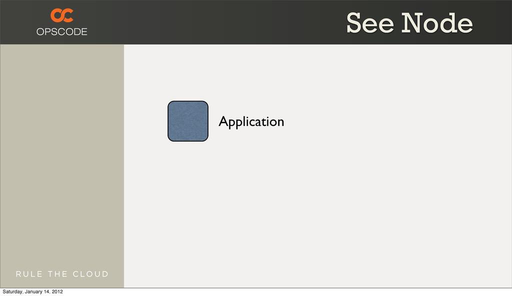 Application See Node Saturday, January 14, 2012