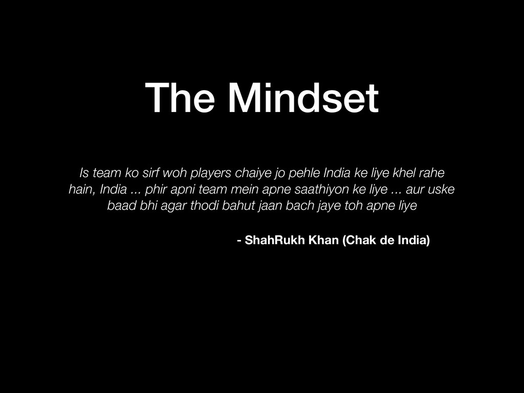 The Mindset Is team ko sirf woh players chaiye ...