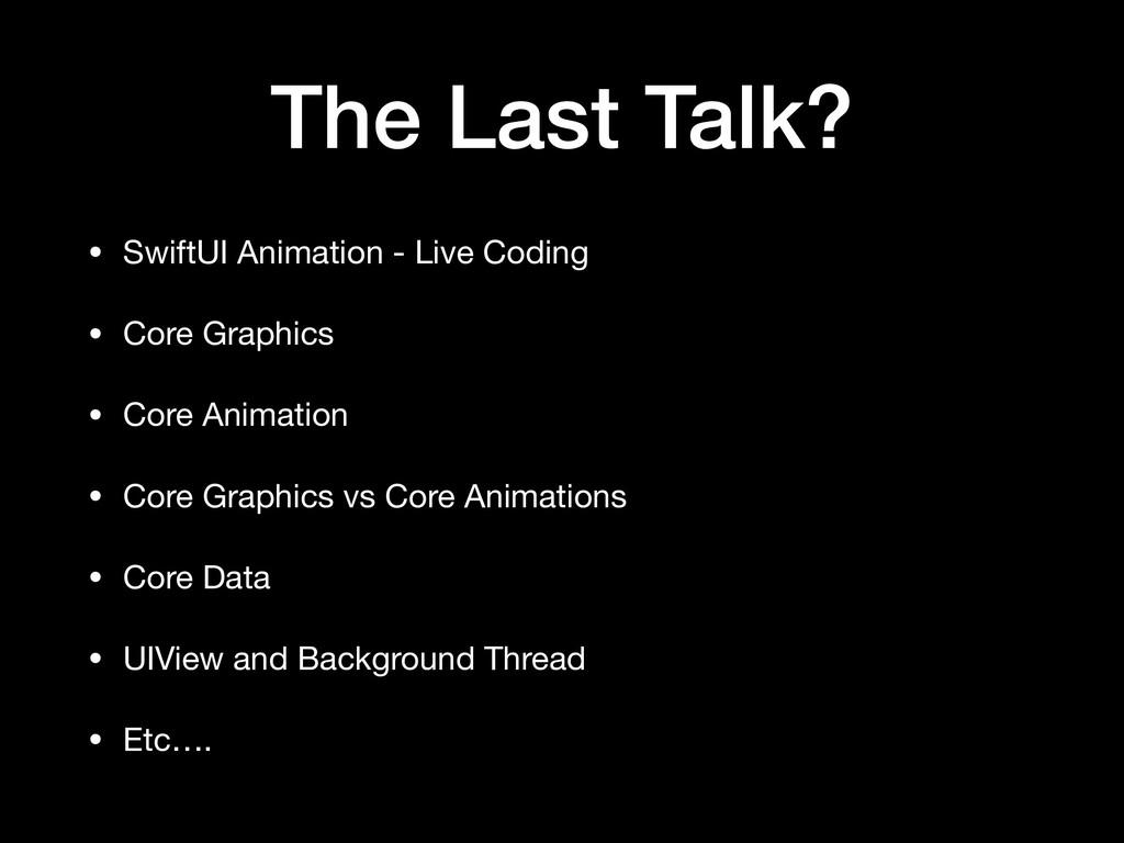 The Last Talk? • SwiftUI Animation - Live Codin...