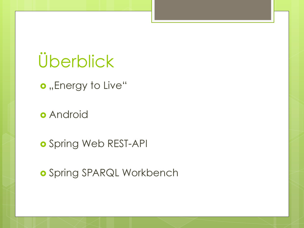 "Überblick ›  ""Energy to Live"" ›  Android ›  ..."