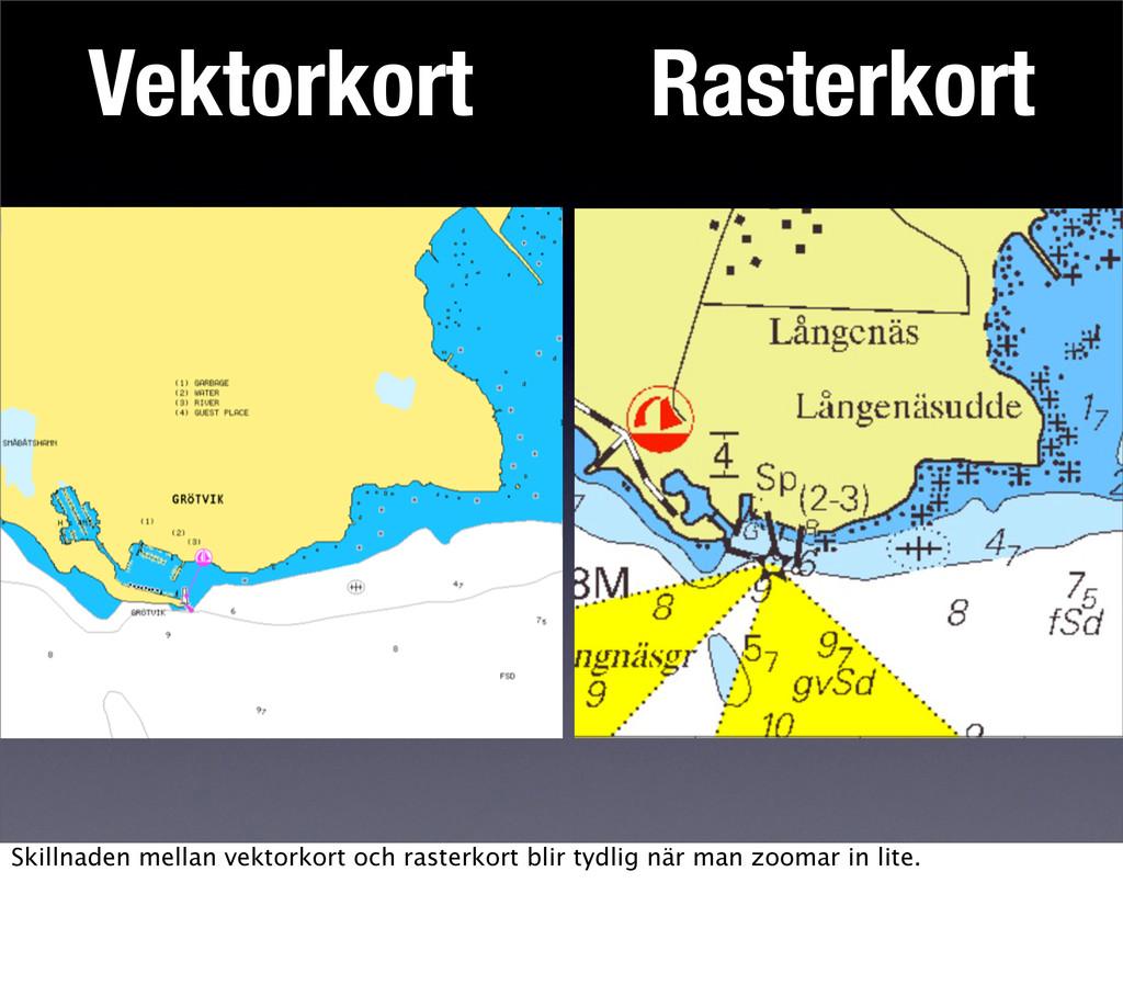 Vektorkort Rasterkort Skillnaden mellan vektork...