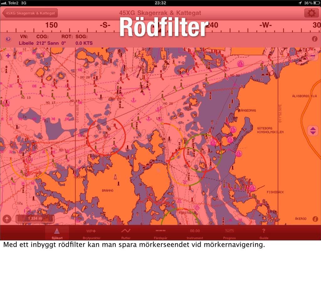 Rödfilter Rödfilter Med ett inbyggt rödfilter kan ...