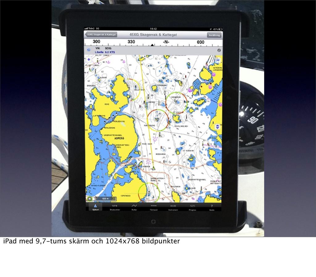 iPad med 9,7-tums skärm och 1024x768 bildpunkter