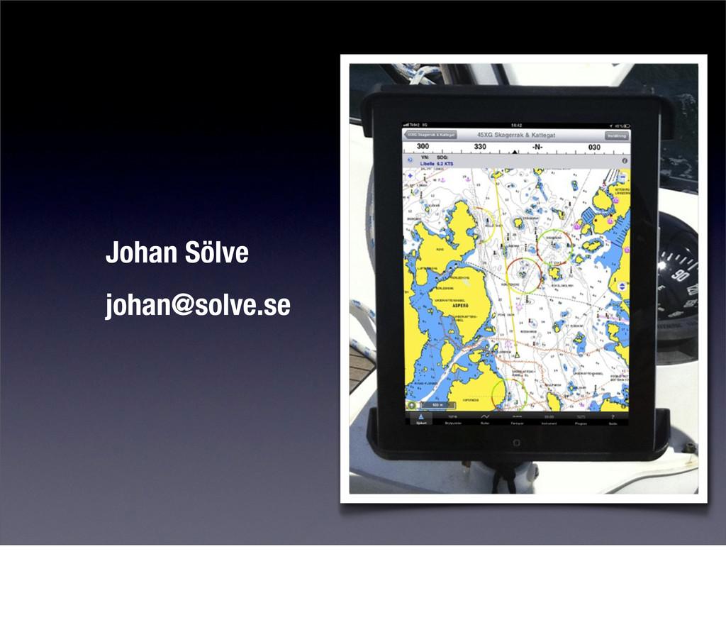 Johan Sölve johan@solve.se