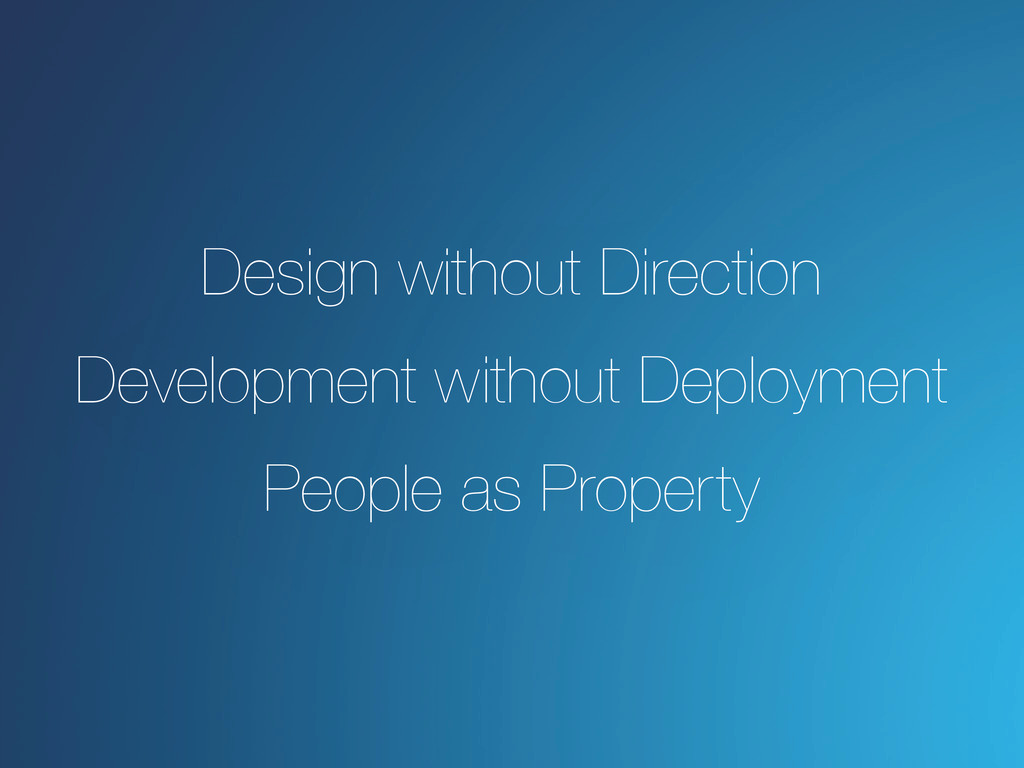 Design without Direction Development without De...