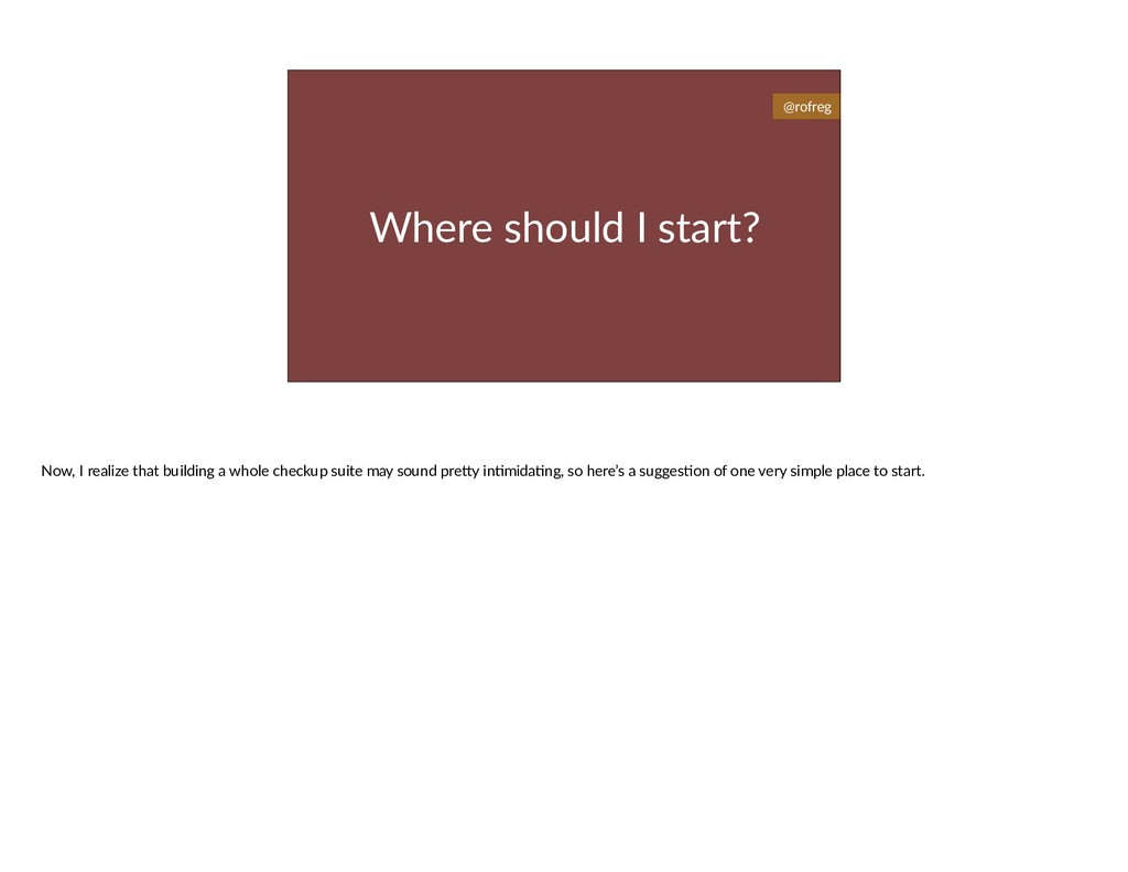 Where should I start? @rofreg Now, I realize th...