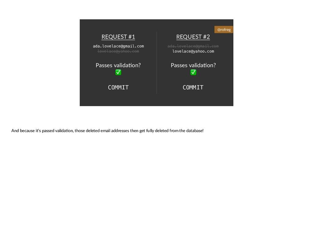REQUEST #2 REQUEST #1 Passes valida6on? ✅ Passe...