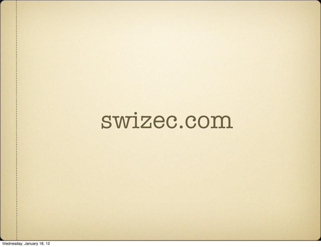 swizec.com Wednesday, January 18, 12