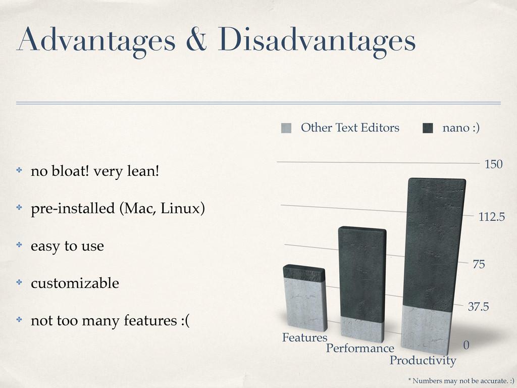 Advantages & Disadvantages ✤ no bloat! very lea...