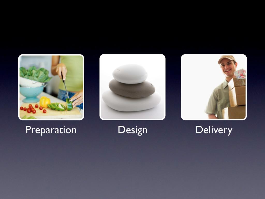 Preparation Design Delivery