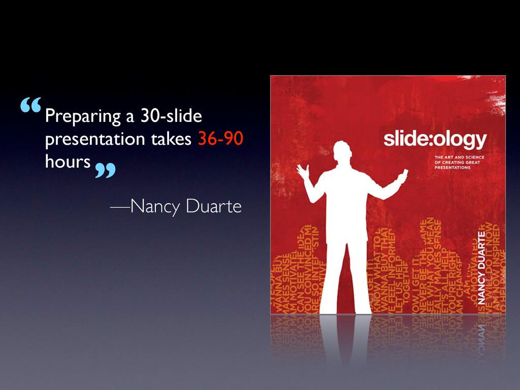Preparing a 30-slide presentation takes 36-90 h...
