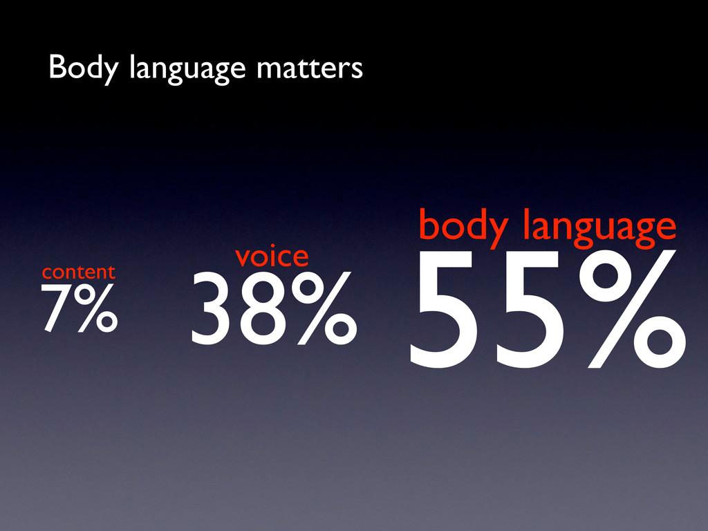 55% 7% 38% Body language matters content voice ...