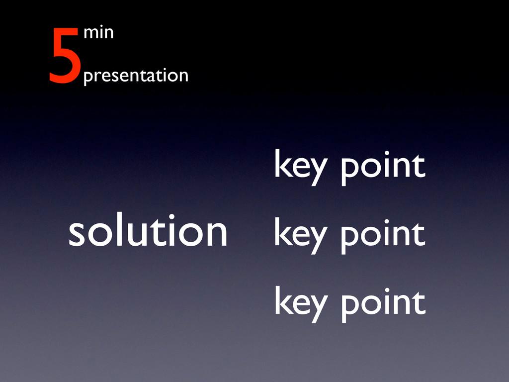 5min presentation solution key point key point ...