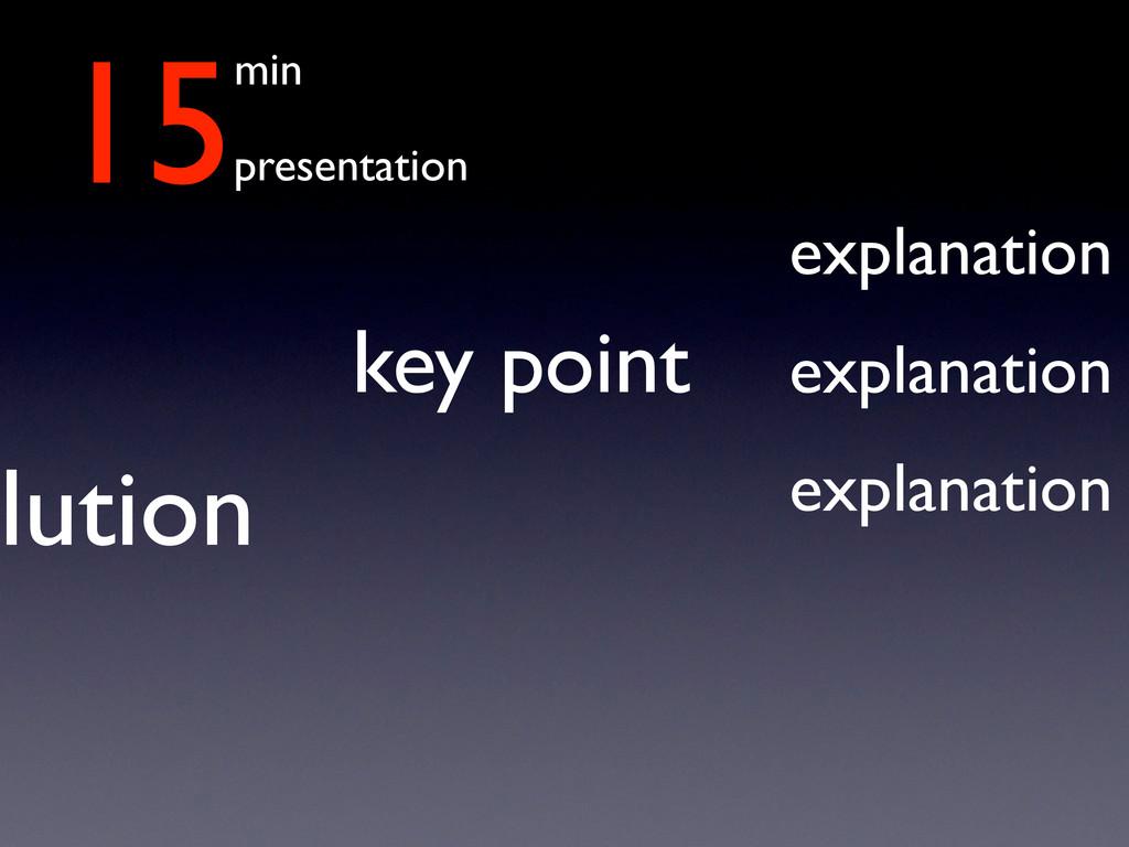 15min presentation lution key point explanation...