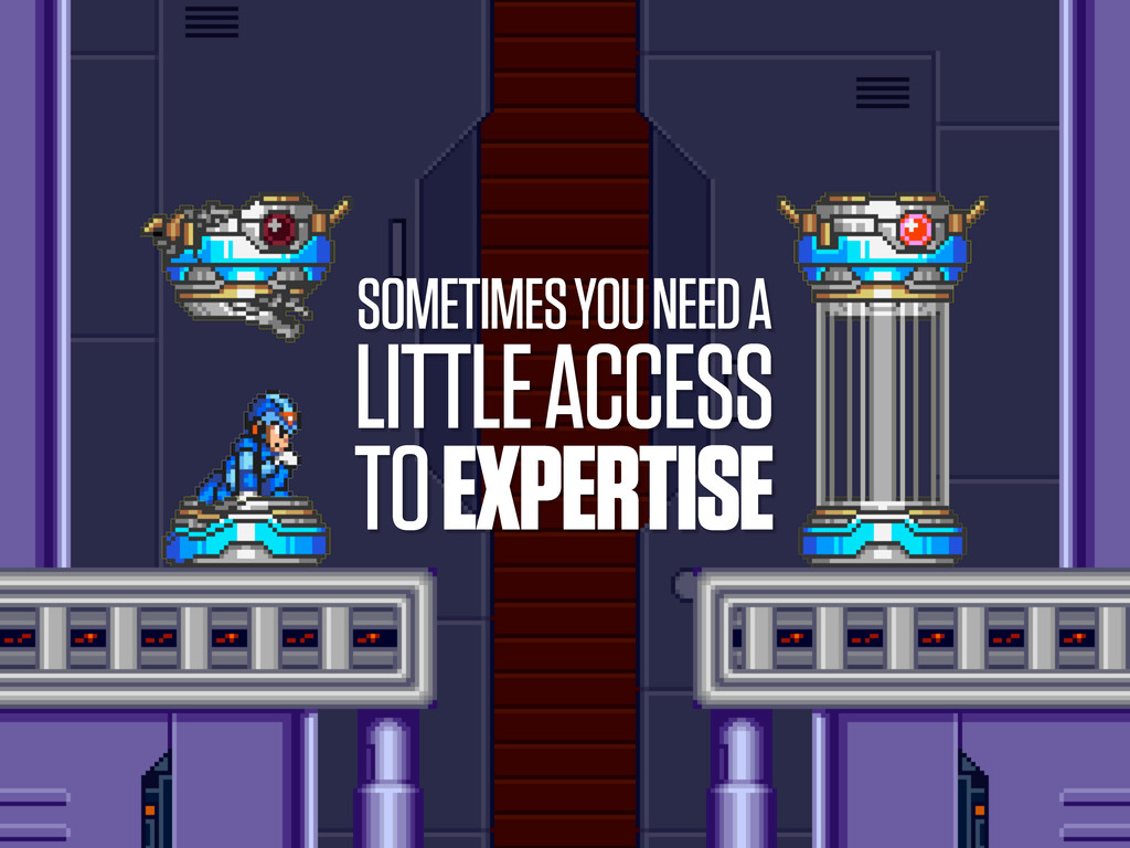SOMETIMES YOU NEED A LITTLE ACCESS TO EXPERTISE