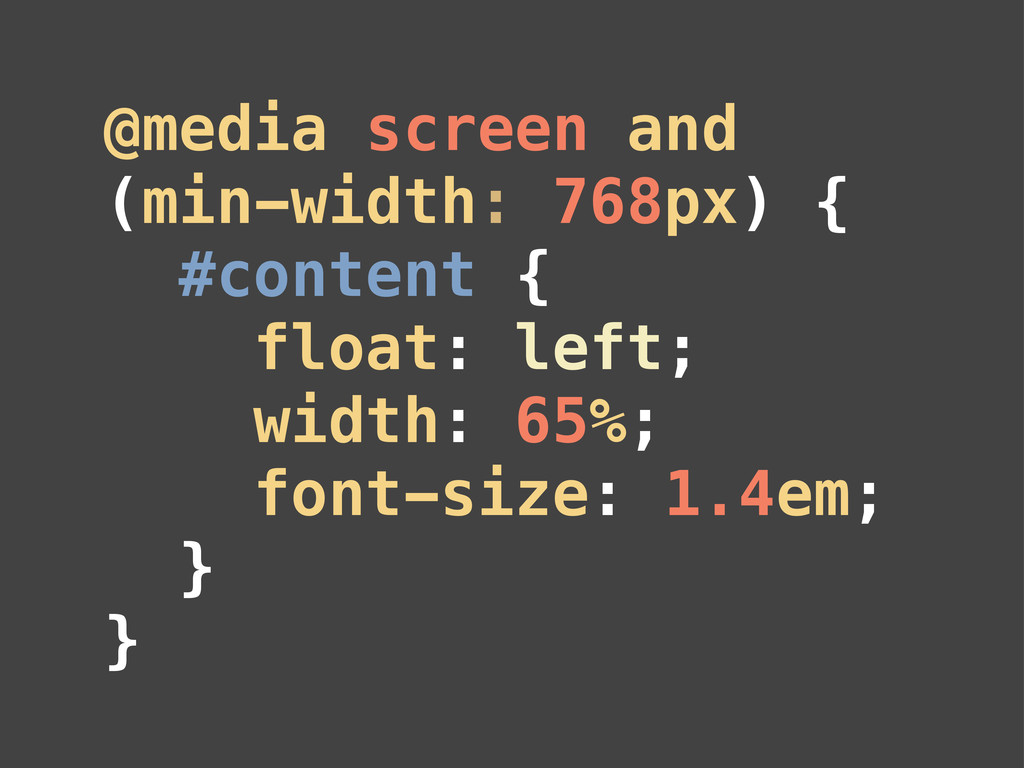 @media screen and (min-width: 768px) { #content...