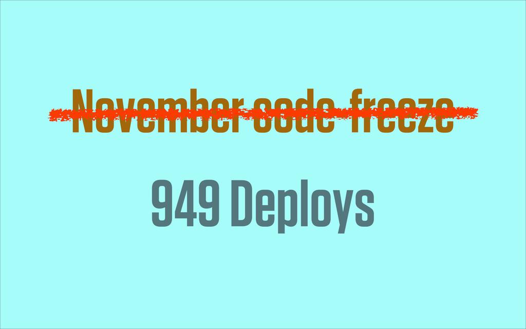 November code-freeze 949 Deploys