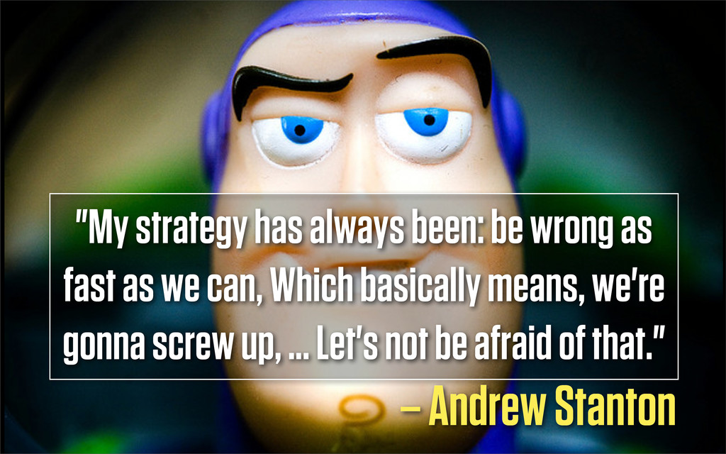 """Text """"My strategy has always been: be wrong as ..."""
