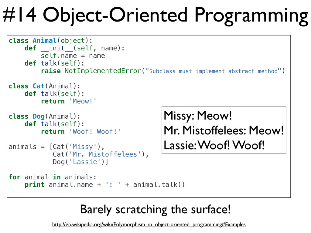 #14 Object-Oriented Programming class Animal(ob...