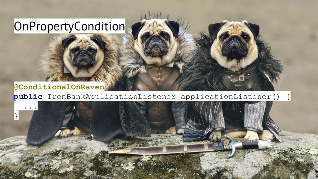 OnPropertyCondition @ConditionalOnRaven public ...