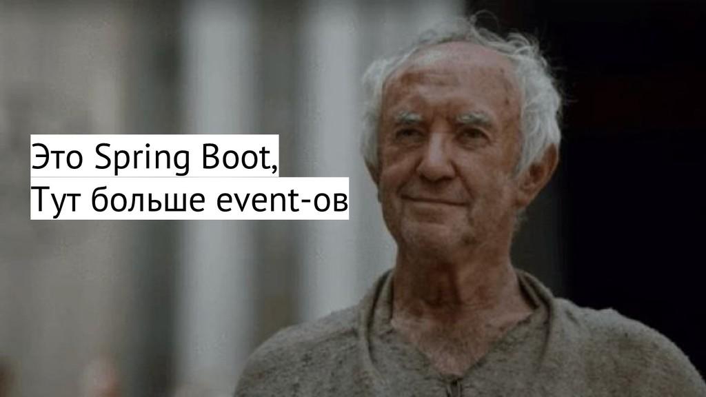 Это Spring Boot, Тут больше event-ов