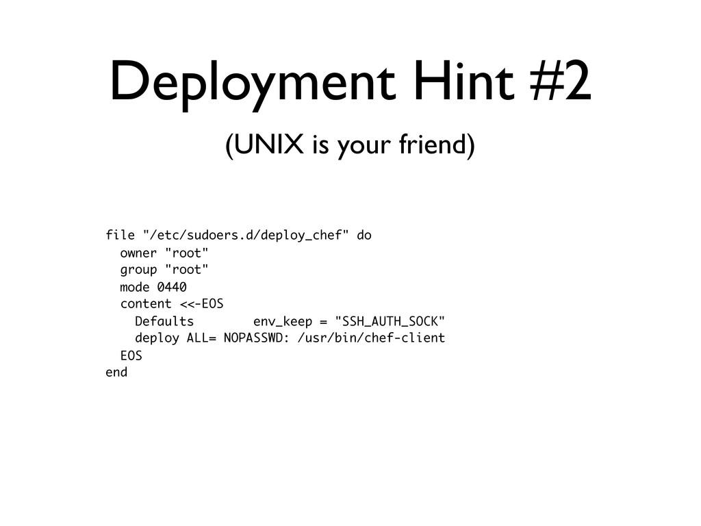 """Deployment Hint #2 file """"/etc/sudoers.d/deploy_..."""
