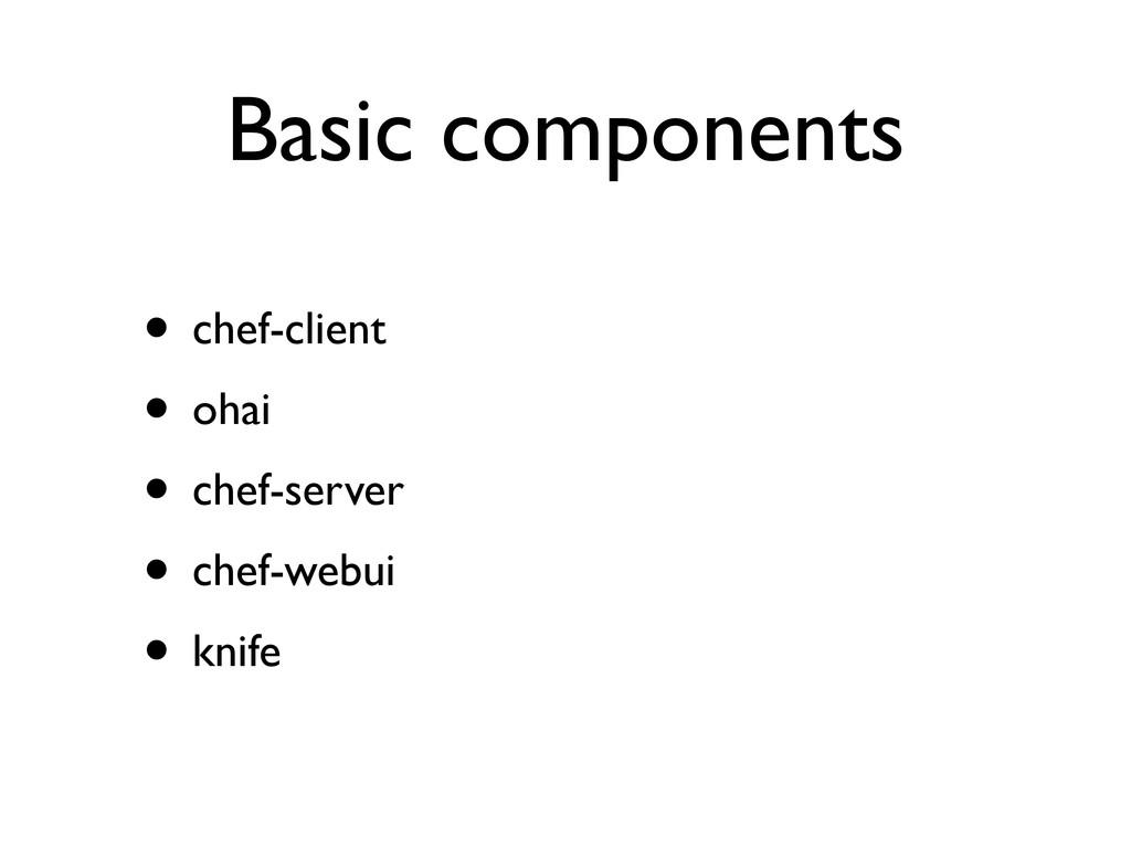 Basic components • chef-client • ohai • chef-se...