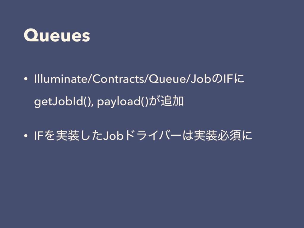 Queues • Illuminate/Contracts/Queue/JobͷIFʹ get...