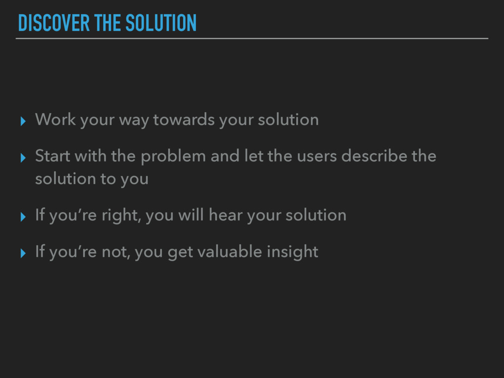 DISCOVER THE SOLUTION ▸ Work your way towards y...