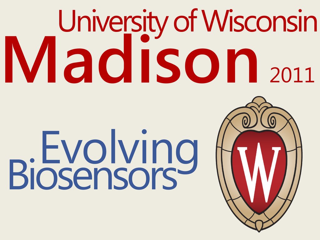 University of Wisconsin Biosensors Evolving Mad...