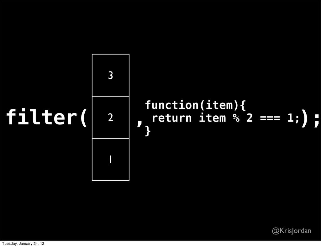 filter( 3 2 1 ,function(item){ return item % 2 ...