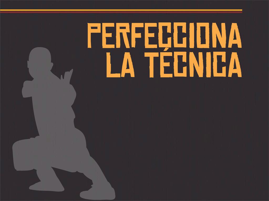 PERFECCIONA LA TÉCNICA