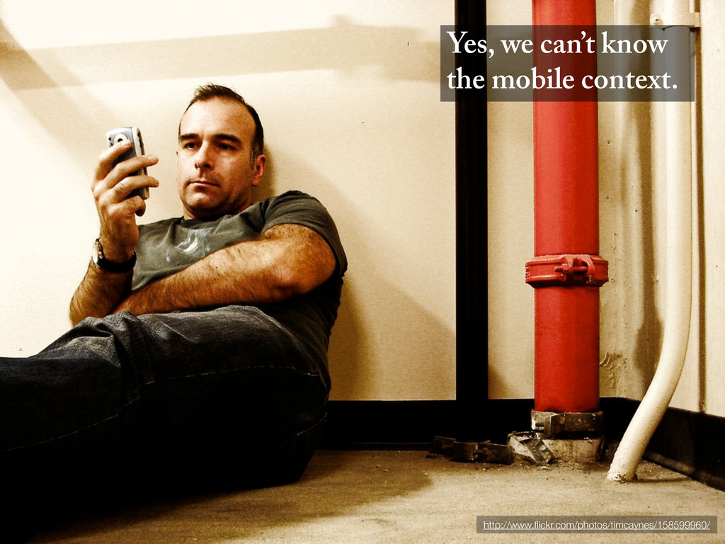 Yes, we can't know the mobile context. http://w...