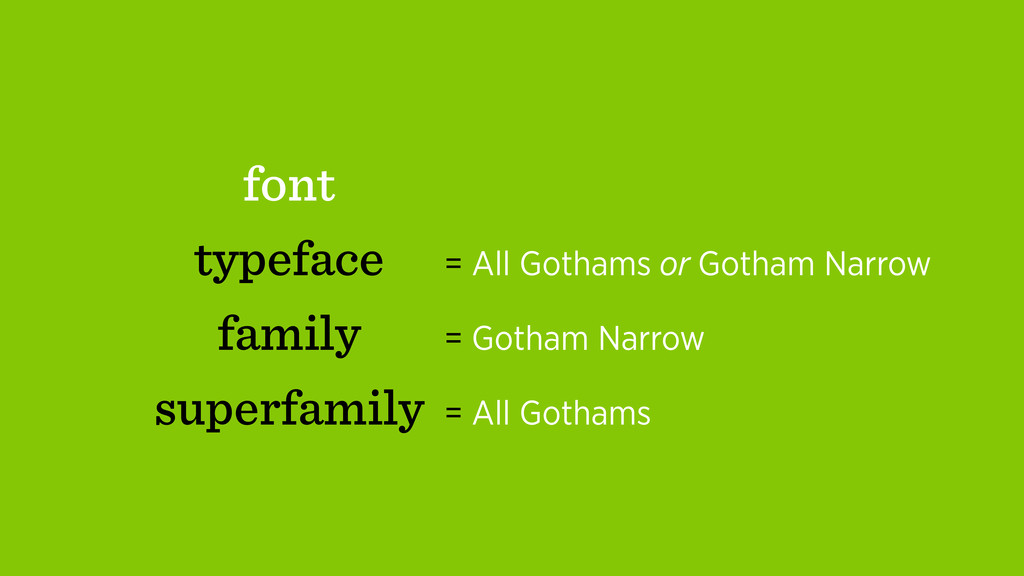 font typeface family superfamily = All Gothams ...
