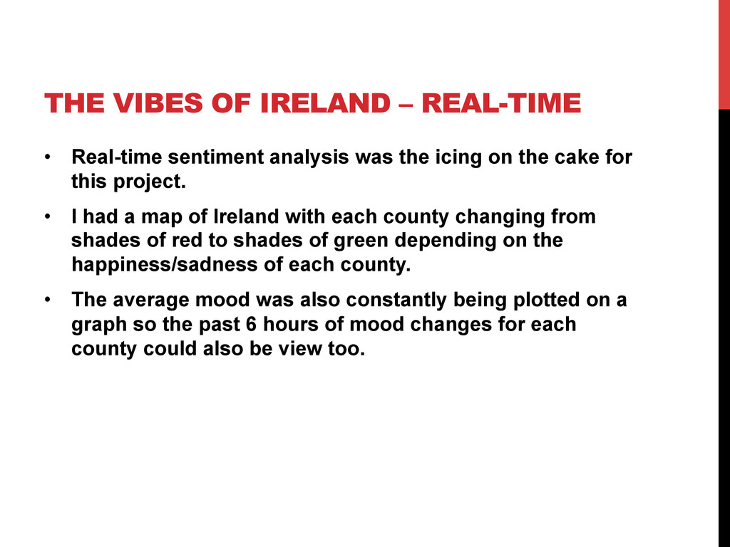 THE VIBES OF IRELAND – REAL-TIME •  Real-time s...