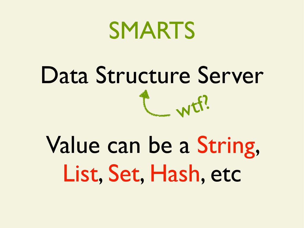 Data Structure Server wtf? Value can be a Strin...