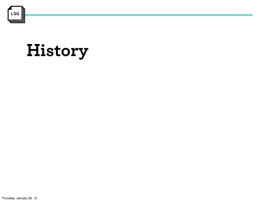 History Thursday, January 26, 12
