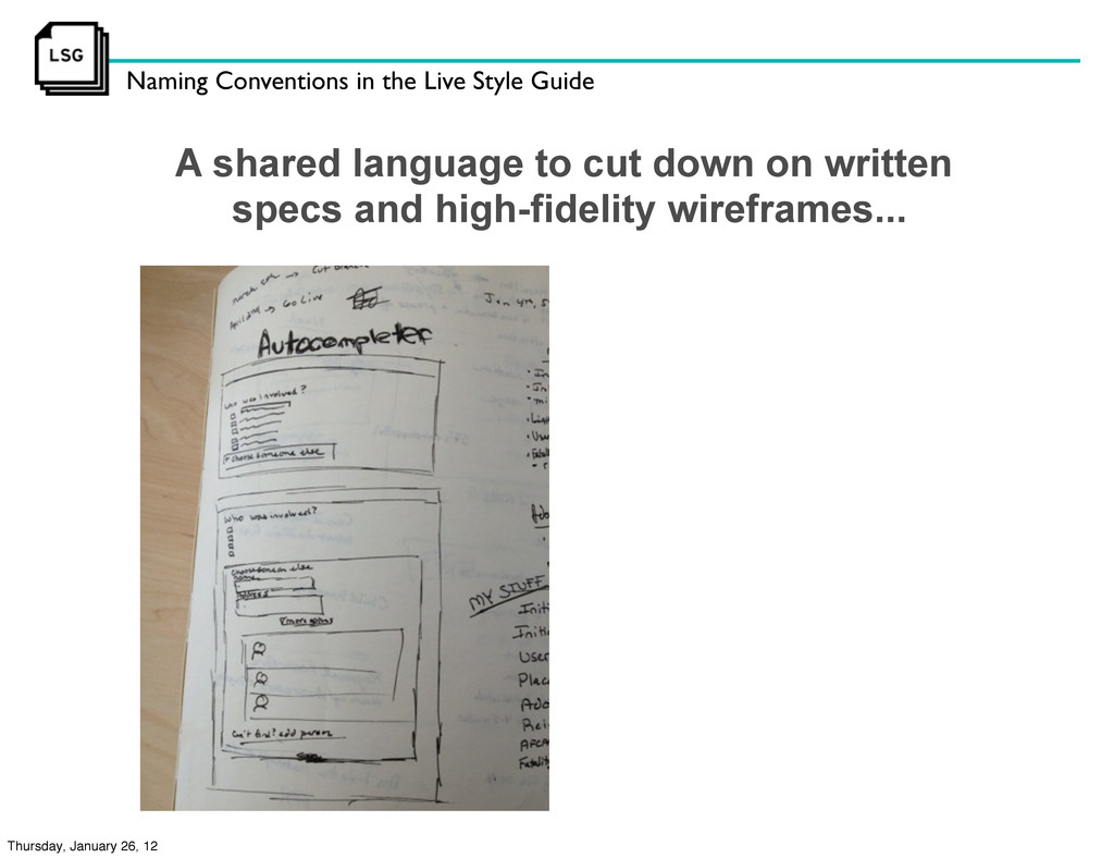 Naming Conventions in the Live Style Guide A sh...