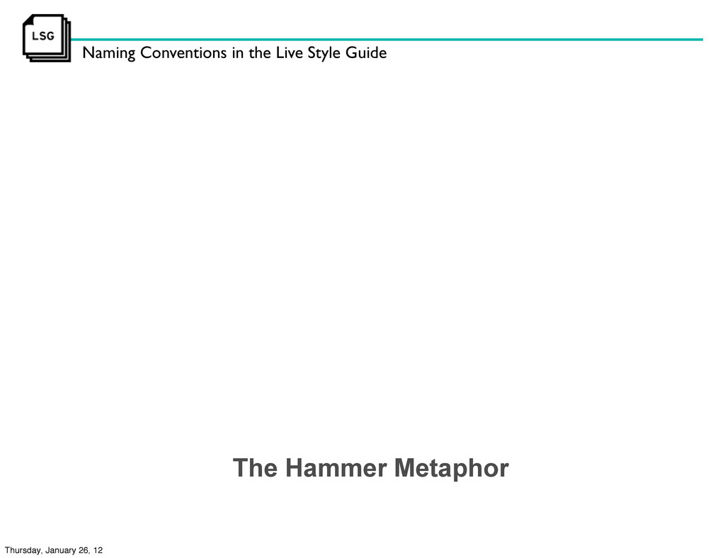 Naming Conventions in the Live Style Guide The ...