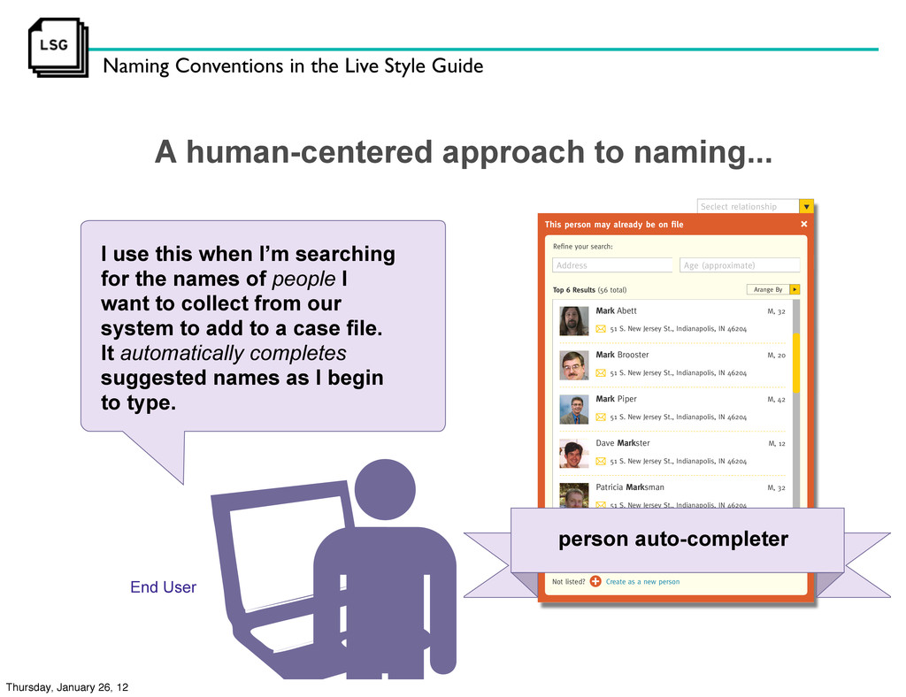 Naming Conventions in the Live Style Guide End ...