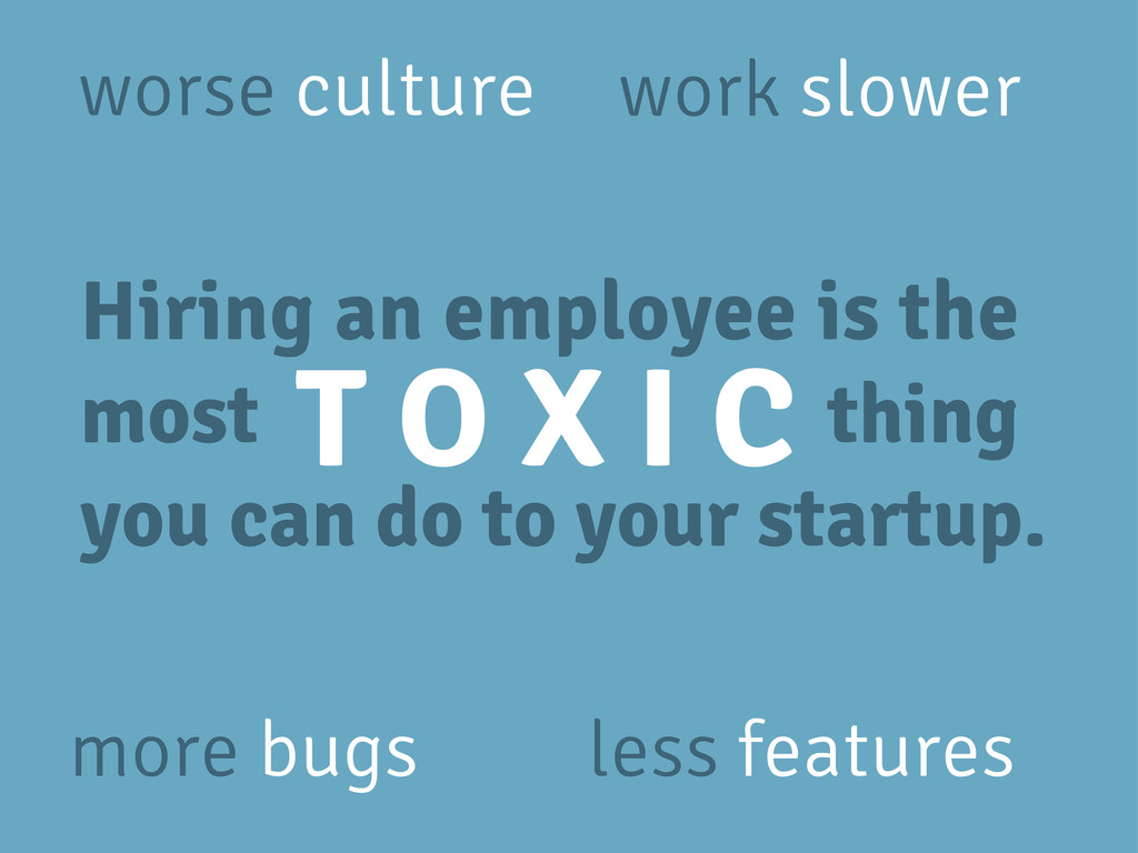 Hiring an employee is the most thing you can do...