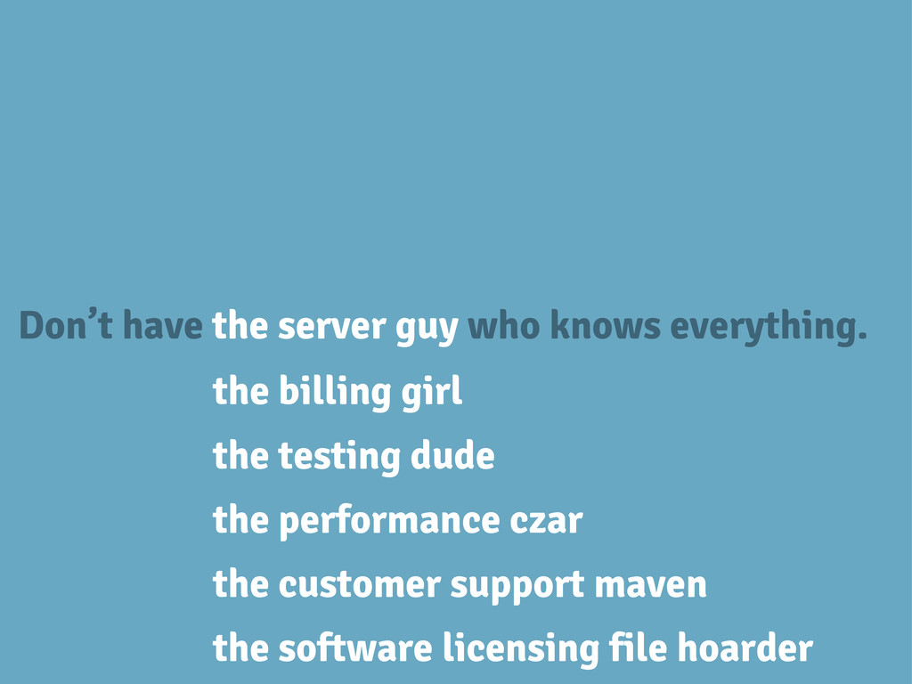 Don't have the server guy who knows everything....