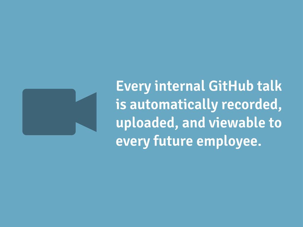 V Every internal GitHub talk is automatically r...